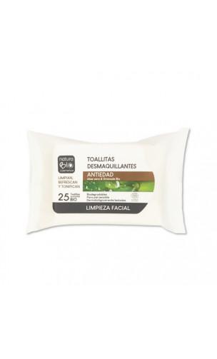 Toallitas desmaquillantes bio Antiedad - Aloe vera & Granada - NaturaBIO Cosmetics - 25 Ud.