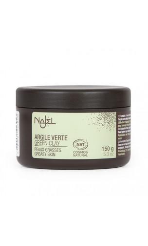 Arcilla verde natural en polvo - Najel - 150 g.