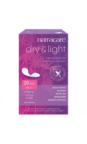 Serviette pour l'incontinence en coton BIO - Dry&Light -Natracare - 20 Unités
