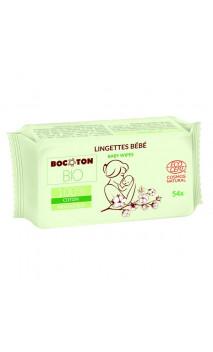Lingettes bébé naturelles Ultra douces - Coton & Aloe vera - BOCOTON - 54 Ud.