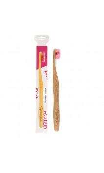 Brosse à dents en Bambou pour adultes Rose - Nordics