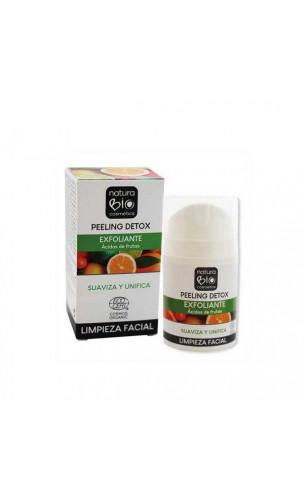 Peeling visage bio DETOX - Acides de fruits - NaturaBIO Cosmetics - 50 ml.