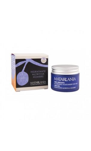 Crema facial ecológica Hidratante Nutritiva Hombre 100 bio - Matarrania - 60 ml.