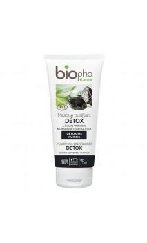 Mascarilla facial ecológica Purificante DETOX - Carbón - Biopha Nature - 75 ml.