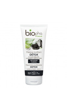 Masque visage BIO Purifiant DETOX - Charbon - Biopha Nature - 75 ml.