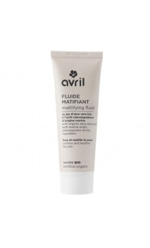Fluide matifiant bio - Aloe vera & Actif séborégulateur d'origine marine - Avril - 50 ml.