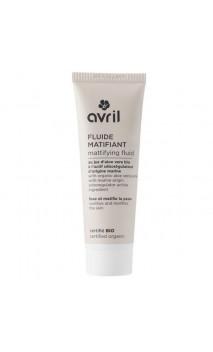 Fluido facial ecológico Matificante - Aloe vera & Activo seborregulador marino - Avril - 50 ml.