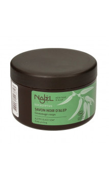 Jabón negro de Alepo Eucalipto - Exfoliante corporal - Najel - 180 g.