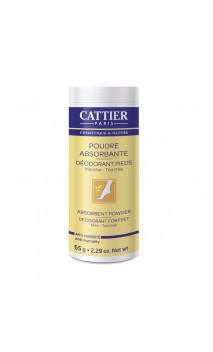 Poudre naturelle déodorant pour les pieds - Cattier - 65 g.