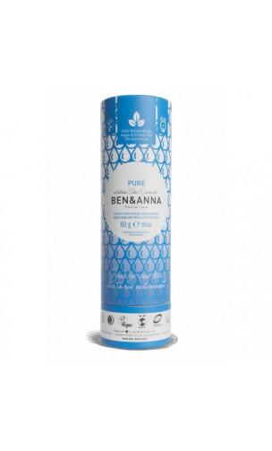 Desodorante natural de bicarbonato - Pure - Ben & Anna - 60 g.