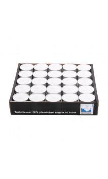 Vela de té natural para difusor - Blanco - Kerzenfarm - 50 Ud.