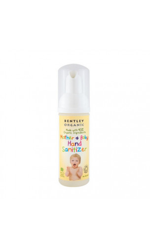 Désinfectant bio pour mains Maman & bébés – Bentley Organic – 50 ml.