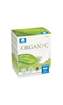 Serviettes hygiéniques Normal - Coton bio - ailettes pliées - Organyc - 10 U.