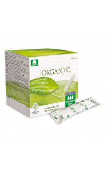 Tampon bio Super - Coton organique - Avec applicateur d'origine végétale -  Organyc - 16 U.
