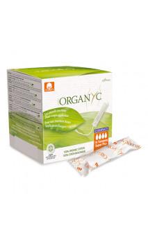 Tampon bio Super Plus - Coton organique - Avec applicateur d'origine végétale -  Organyc - 16 U.