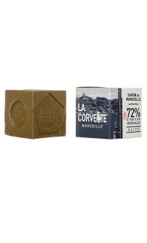 Maxi Savon de Marseille traditionnel (OLIVE) - La Corvette - 500 gr.