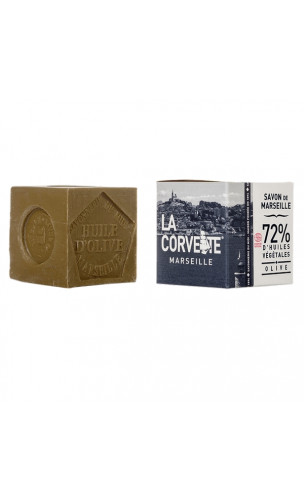 Jabón de Marsella tradicional certificado (OLIVA) - La Corvette - 200 gr.