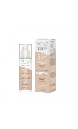 Crema solar natural Facial COLOR Light SPF 30  - ALGA MARIS -  50 ml.