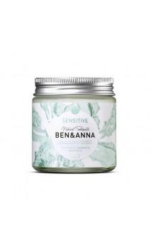 Dentifrice naturel - Dents sensibles - Ben & Anna - 100 ml.