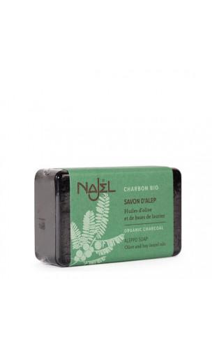 Savon d'Alep au charbon végétal bio  - Purifiant - Najel - 100 g.