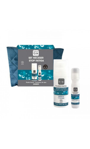 Set Trousse de toilette STOP FATIGA Acide Hyaluronique - Unisex - NaturaBIO Cosmetics