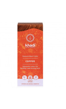 Tinte vegetal bio - Cobre - 100 vegetal - Khadi - 100 gr.