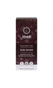 Tinte vegetal bio - castaño oscuro - 100 vegetal - Khadi - 100 gr.
