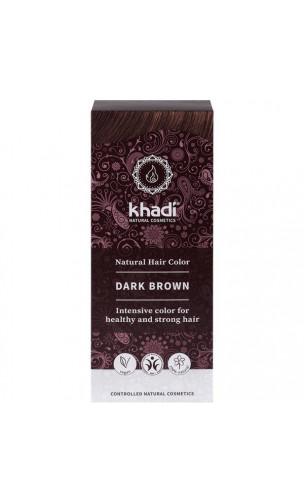 Tinte vegetal bio - castaño oscuro - 100% vegetal - Khadi - 100 gr.
