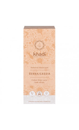 Henna bio - Senna Cassia neutra - 100% natural - Khadi - 100 gr.