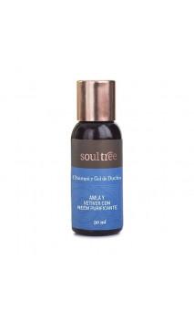 Shampooing & Gel douche BIO - AMLA & VETIVER avec Neem purifiant - Soultree - 30 ml.