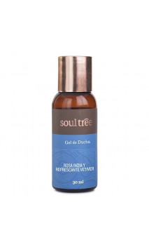 Gel de ducha ecológico - ROSAS & VETIVER - Soultree - 30 ml.