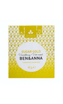 Cire épilation naturelle - Sugar gold - Ben & Anna - 60 g.