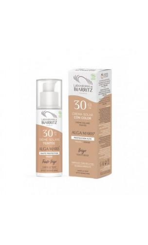 Crema solar natural Facial Color Dorado SPF 30  - ALGA MARIS -  50 ml.