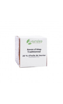 Savon d'Alep traditionnel Laurier 20 - Lauralep - 200 g.