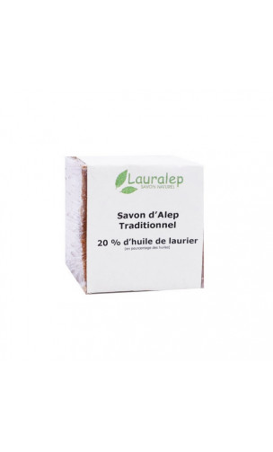 Jabón de Alepo bio tradicional Laurel al 20% - Lauralep - 200 gr.