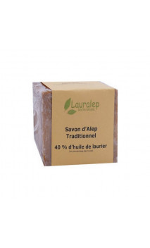 Savon d'Alep traditionnel Laurier 40 - Lauralep - 200 g.