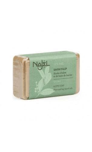 Savon d'Alep naturel Laurier 12 (Peau normales à mixte) - Najel - 170 g.