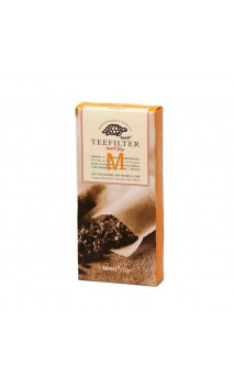Filtre en papier pour thé bio en vrac - Non chloré - Taille M - 100 unités -  Alveus