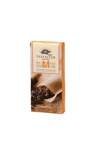 Filtro de papel para té ecológico a granel - Sin cloro - Talla M - 100 unidades - Alveus