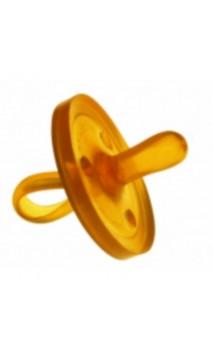 Sucette en caoutchouc naturel - Forme physiologique ovale - 0-6 mois (Taille S) - GOLDI