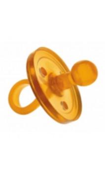 Sucette en caoutchouc naturel - Forme ronde naturelle - 4-11 mois (Taille M) - GOLDI