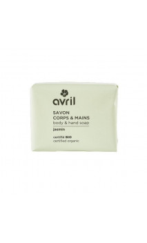 Jabón ecológico Jazmín - Manos & Cuerpo - Avril - 100 g.
