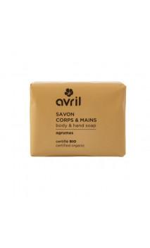 Savon bio Agrumes - Mains & Corps - Avril - 100 g.