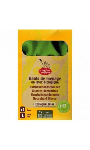 Gants d'entretien Latex écologique - La droguerie écologique - Taille L