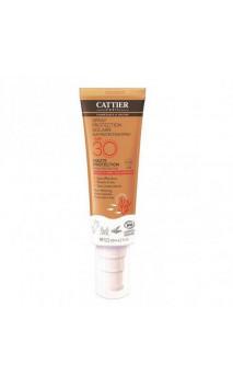 Spray protection solaire bio SPF 30 - Sans oxyde de zinc - Cattier - 125 ml.