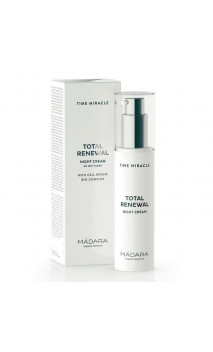 Crème de Nuit naturelle Total Renewal - Time Miracle - MÁDARA - 50 ml.