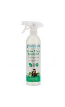 Mousse & Spray Nettoyant salle de bain bio 2 en 1 - Greenatural - 500 ml.