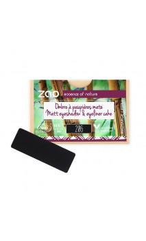 Recarga Rectangular Sombra de ojos ecológica - Noir & eyeliner cake - 206 - ZAO Make Up - 1,3 g.