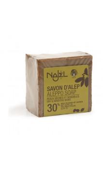 Savon d'Alep naturel 30 - Najel - 170 g.