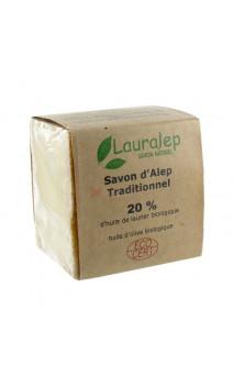Jabón de Alepo BIO tradicional Laurel al 20 - Primera presión  - Lauralep - 200 g.